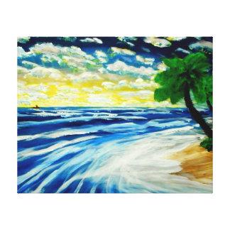 """Ocean View- 40"""" x 32"""" wall canvas Canvas Print"""