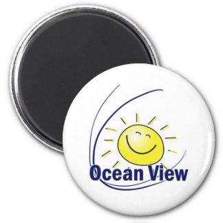 Ocean View 6 Cm Round Magnet