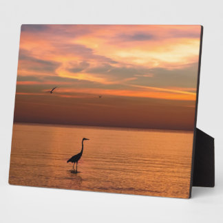 Ocean View at Sunset Photo Plaque