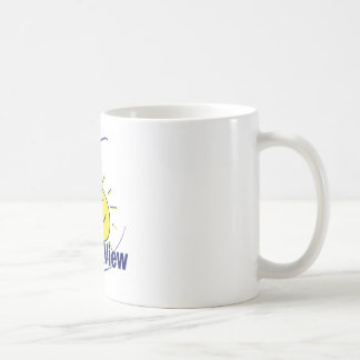 Ocean View Basic White Mug