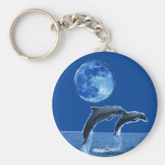 Ocean View Keychain with dolphins