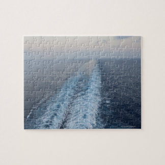 Ocean view of wake from the rear of a cruise jigsaw puzzle