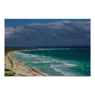 """Ocean View Off Cozumel"" Poster 16x12"