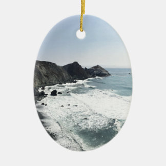Ocean View Pacific Coast Highway Big Sur Ceramic Ornament