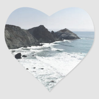 Ocean View Pacific Coast Highway Big Sur Heart Sticker