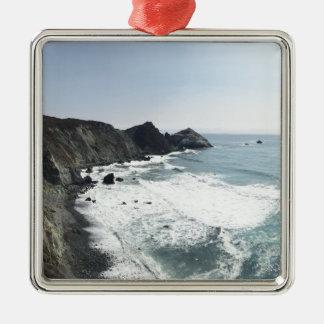 Ocean View Pacific Coast Highway Big Sur Metal Ornament
