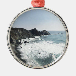 Ocean View Pacific Coast Highway Big Sur Metal Ornament