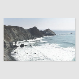 Ocean View Pacific Coast Highway Big Sur Rectangular Sticker