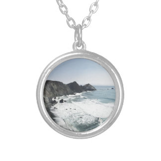 Ocean View Pacific Coast Highway Big Sur Silver Plated Necklace