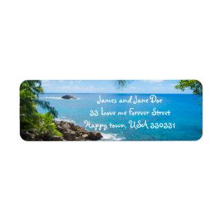 Ocean View Return Address Labels