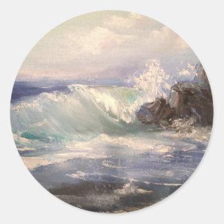 Ocean  View Round Sticker