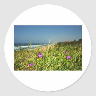 Ocean View Round Sticker