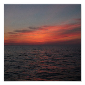 Ocean view sunset posters