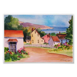 Ocean View Village Houses Poster