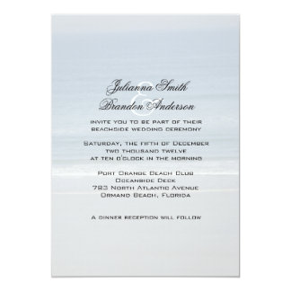 Ocean View Wedding Invitations, 5x7 Card