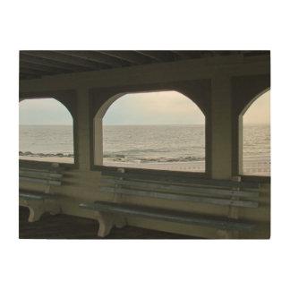 Ocean View Wood Canvas