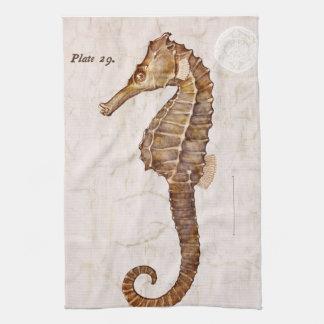 Ocean Vintage Sea Horse Creature Seahorse Tea Towel