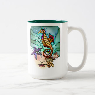 OCEAN VISIONS SEA ART Two-Tone COFFEE MUG