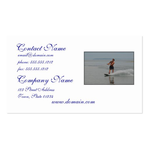 Ocean Wakeboarder Business Cards