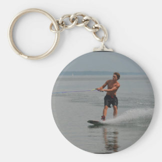 Ocean Wakeboarder Key Chain