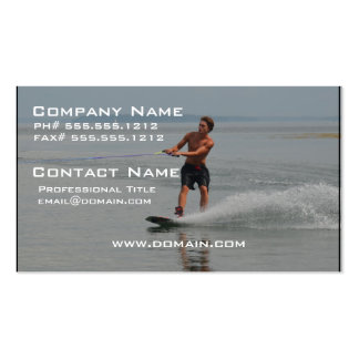 Ocean Wakeboarder Pack Of Standard Business Cards