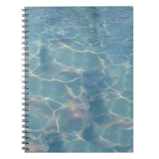 Ocean water notebook
