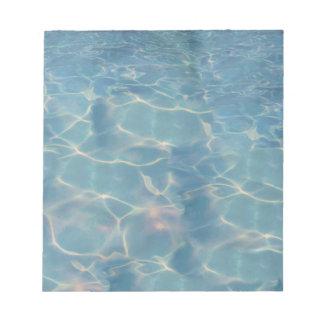 Ocean water notepad