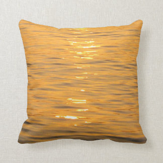 Ocean Water Orange Pillow
