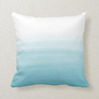 Ocean watercolor pillow