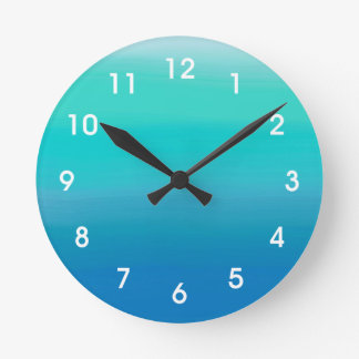 Ocean Watercolors Wall Clock