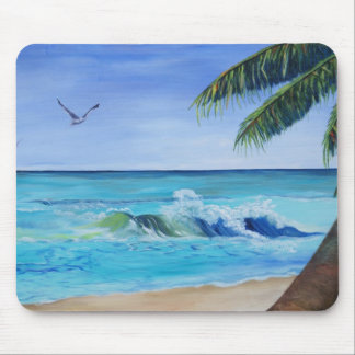 ocean wave mouse pad