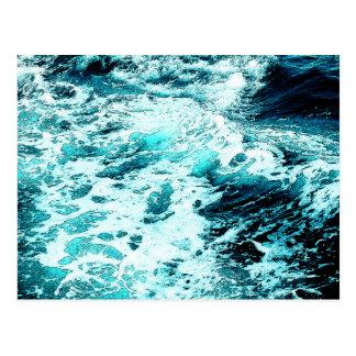 Ocean Wave Sea Foam Water Texture Postcard