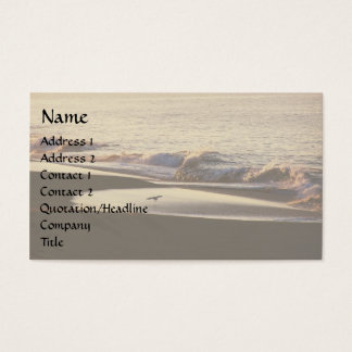 Ocean Wave Seashore Business Card