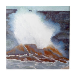 Ocean Wave Small Square Tile