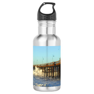 Ocean Wave Storm Pier 532 Ml Water Bottle