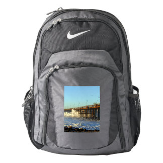 Ocean Wave Storm Pier Backpack