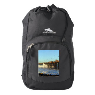 Ocean Wave Storm Pier Backpack