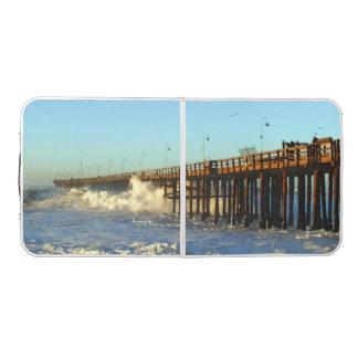 Ocean Wave Storm Pier Beer Pong Table