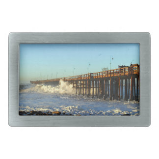 Ocean Wave Storm Pier Belt Buckle