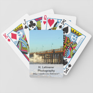 Ocean Wave Storm Pier Bicycle Playing Cards