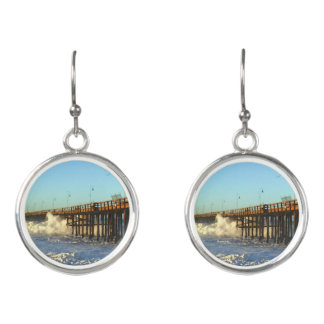 Ocean Wave Storm Pier Earrings