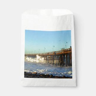 Ocean Wave Storm Pier Favour Bag