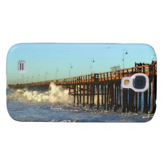 Ocean Wave Storm Pier Galaxy S4 Cover