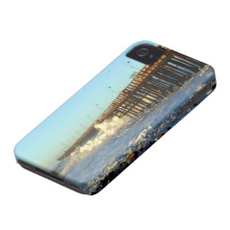 Ocean Wave Storm Pier iPhone 4 Case