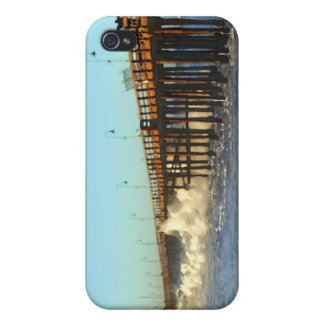 Ocean Wave Storm Pier iPhone 4 Covers