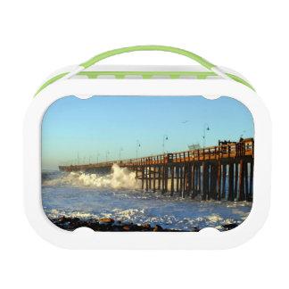 Ocean Wave Storm Pier Lunch Box