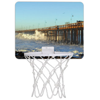 Ocean Wave Storm Pier Mini Basketball Hoop