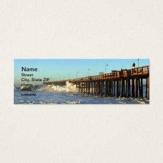 Ocean Wave Storm Pier Mini Business Card