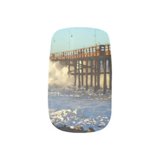 Ocean Wave Storm Pier Minx Nail Art