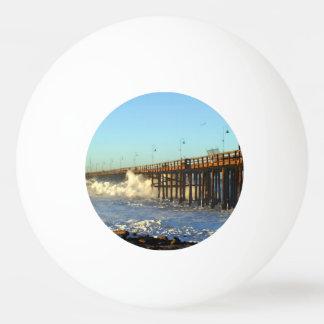 Ocean Wave Storm Pier Ping Pong Ball